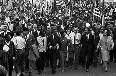 Civil Rights marchers Selma to Montgomery