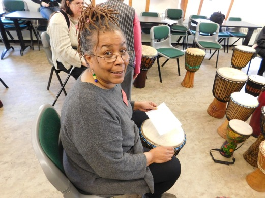 sitting in with the Million Women Drummers at The Underground Railroad Public History Conference in Troy, NY. What an invigorating session